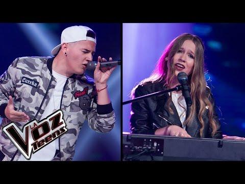 Nikki canta 'Volverte a ver' y Kryan canta 'Le hace falta un beso' | Súper Batallas | La Voz Teens