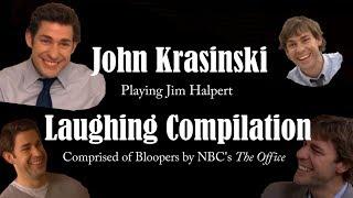 John Krasinski (Jim Halpert) Laughing Compilation & Bloopers