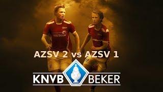 Samenvatting AZSV 2 vs AZSV1 KNVB districtsbeker Oost (18-12-2018)