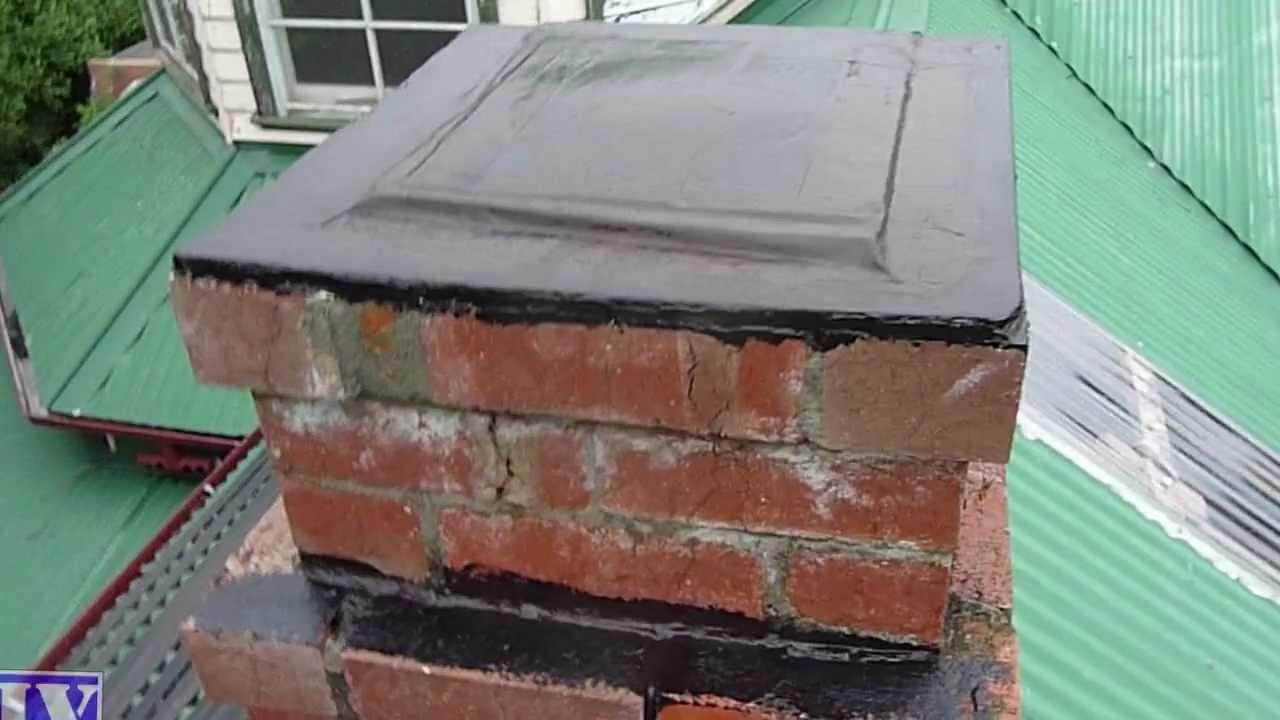 Seal Amp Waterproof Concrete Amp Brick Chimney With Liquid