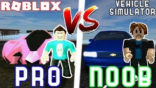 PRO vs NOOB in Vehicle Simulator! - Ft. Seniac! Roblox Vehicle Simulator