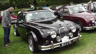 Jaguar Mark 2 several examples at The Royal Windsor Jaguar Festival