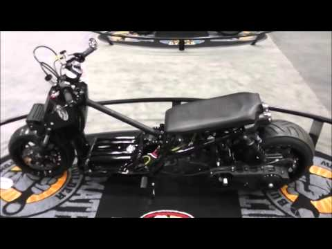 Sick Honda Ruckus entered in custom bike show