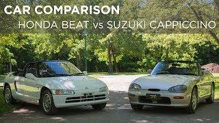 Car Comparison | 1991 Honda Beat vs 1993 Suzuki Cappuccino | Driving.ca
