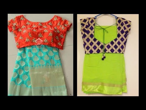Latest Designer Readymade Saree Blouse Designs - She Fashion