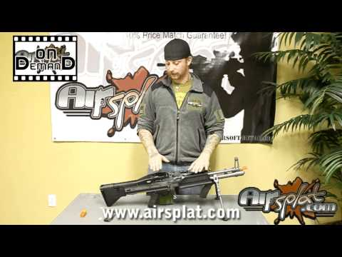 AirSplat OD - A&K MK43 M60 Airsoft Gun Video Review Ep 7