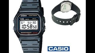 Casio f 91w watch how to remove the pin and replace the strap for Pro trek abc watch prw 3100t