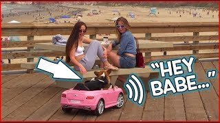 Funny Dog Drives and Asks Girls Out!