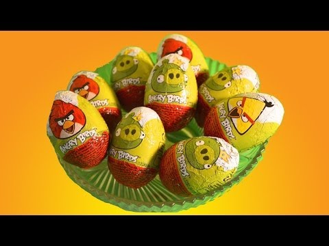 Surprise Eggs unboxing :9 Angry Bird Chocolate Surprise Eggs   By TheChildhoodLife