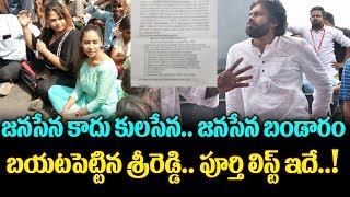 Sri Reddy Shocking Comments On Pawan Kalyan Janasena Party | Top Telugu Media