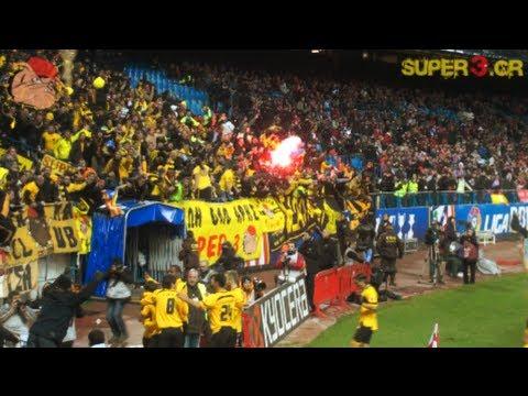 ARIS fans in Madrid - στην πουτάνα τη Μαδρίτη...