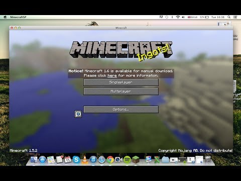 How to get Minecraft for Free! (1.7.4) Full version (auto-updater) (mac) 2014 February