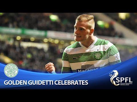 Golden Guidetti celebrates goal in style!