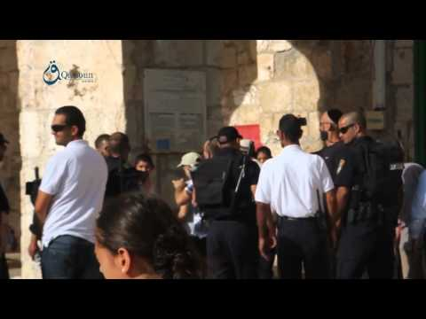 Q.News: Jerusalem: Breaking in Al-Aqsa mosque under the protection of Occupation forces 17-8-2015
