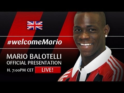 Mario Balotelli [ENG] AC Milan Official Presentation