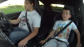 9 year old brother's reaction to first drive in Ford Focus RS MK2