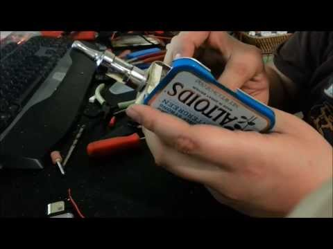 How to build a mechanical mod on a altoids box. step by step build