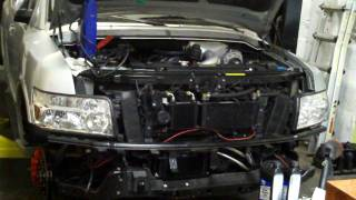 Infiniti QX56 (720HP) First Start after installing Supercharger and more