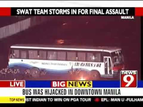 Manila, Philippines Bus Hijack Hostages Crisis - Hostages are Honkong Tourists