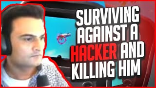KILLING HACKER AND SURVIVING AIMBOT , ESP , NO RECOIL PUBG MOBILE