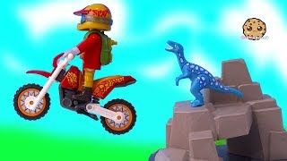 Dinosaur Chase In The Woods ! Shopkins + Playmobil Play Video