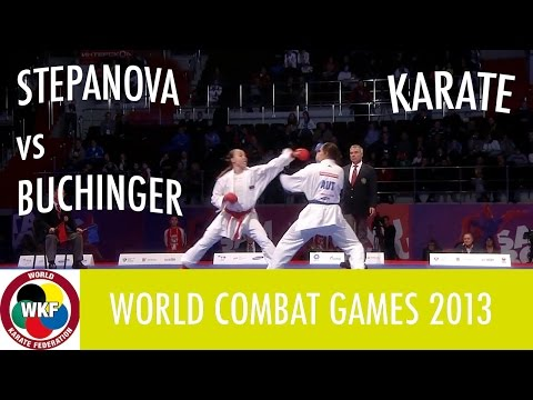 Karate Women's Kumite -61kg. STEPANOVA vs BUCHINGER. World Combat Games 2013