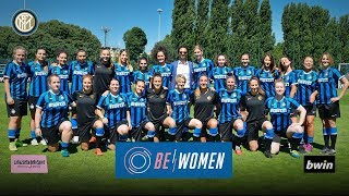 BE WOMEN TRAINING | bwin + Gazzetta dello Sport con l'Inter Femminile e Astrid Ericsson!