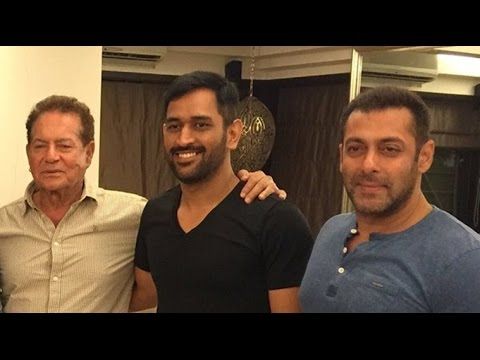 When MS Dhoni Visited Salman Khan at his Bandra Residence !