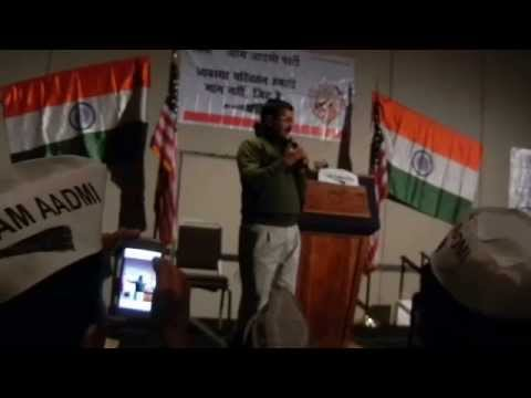 AK In NY: Arvind Kejriwal in New York 7th Dec 2014 interacting with AAP Volunteers and supporters