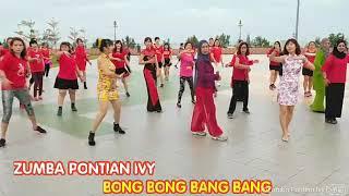 BONG BONG BANG BANG  2019 新年歌 户外玩新年气氛(BY ZUMBA PONTIAN IVY )