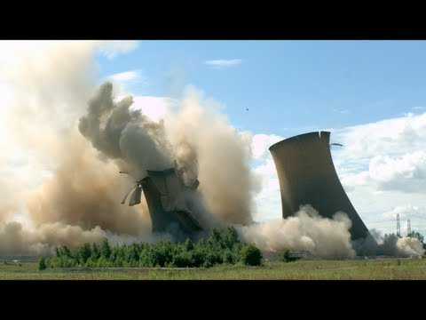Towers Collapsing in Slow Motion - The Slow Mo Guys