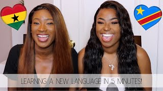 LEARNING TWI AND LINGALA IN 5 MINUTES! | Ghana & Congo 📚📖