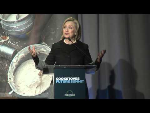 Hillary Rodham Clinton: Cookstoves Future Summit