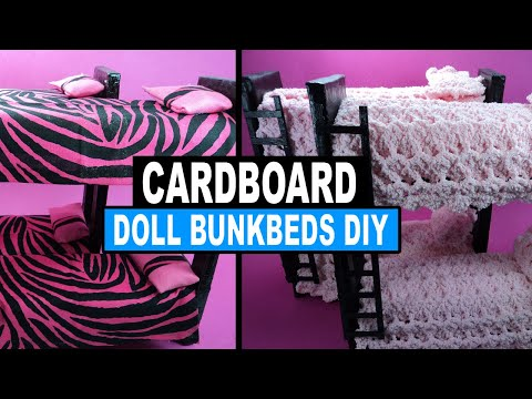 How to Make Doll Bunk Beds with Popsicle Sticks | Doll Crafts