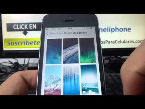 Cómo cambiar el fondo de pantalla de mi iPhone 5S 5C 5 4 iOS 7 español Channeliphone