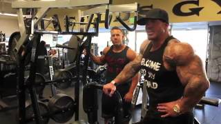 Rich Piana and Chris Belden  arms workout
