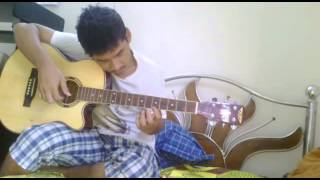 Very easy beginners guitar solo Amar shonar Bangla