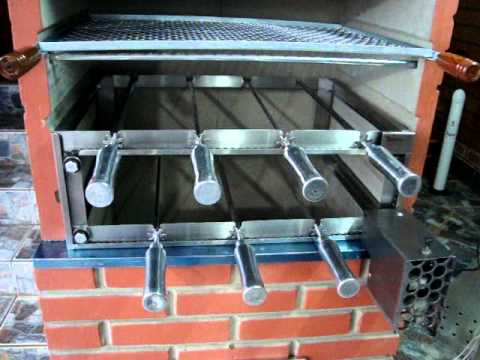 Grill eletrico para churrasqueira