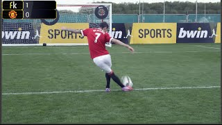 Football Challenge: Di Maria, De Gea, Rojo vs Freekickerz team