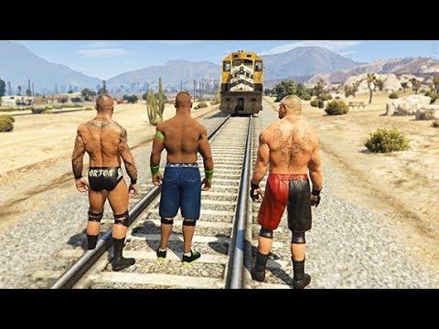 GTA 5 Randy Orton John Cena Compilation #7 (GTA 5 WWE Fails Funny Moments)