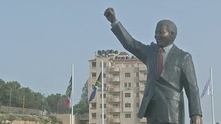 Nelson Mandela statue unveiled in West Bank city of Palestine