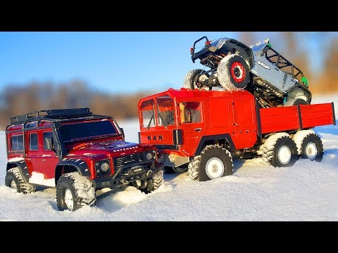RC Cars Snow OFF Road — Traxxas TRX4 4x4, MAN KAT1 6x6 — RC Extreme Pictures