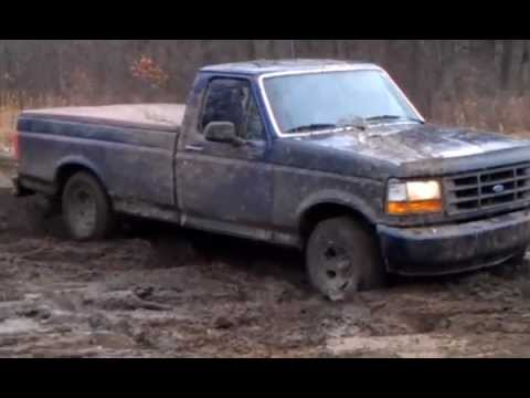 2WD F150 playing in the Mudd