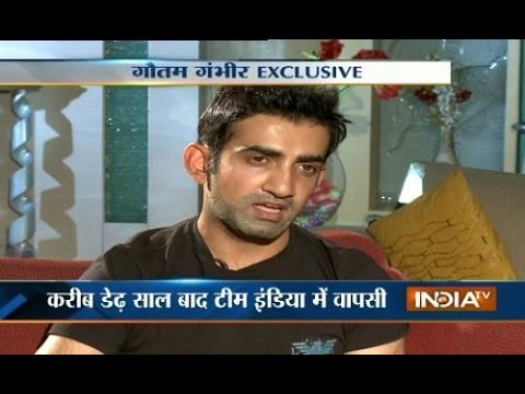 KKR captain Gautam Gambhir speaks exclusive with India