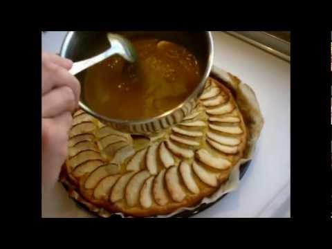 Tarta fácil de crema y manzana