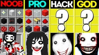 Minecraft Battle: NOOB vs PRO vs HACKER vs GOD: JEFF THE KILLER CRAFTING CHALLENGE / Animation