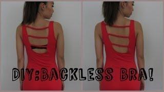 How to Make a BACKLESS BRA !!