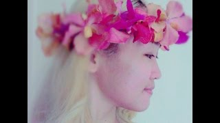 DIY: Flower Crown Wreath Using Fresh Flowers (Orchids, Amaranthus ,Forget-Me-Nots)