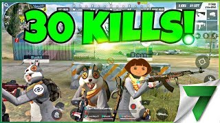 30 KILL SQUAD GAME! NEW PERSONAL RECORD!! | Rules of Survival