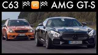 Drag Race Mercedes C63 AMG 499HP VS Mercedes AMG GT S